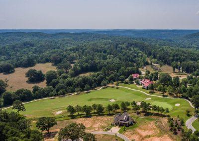 overhead shot of golf course 4