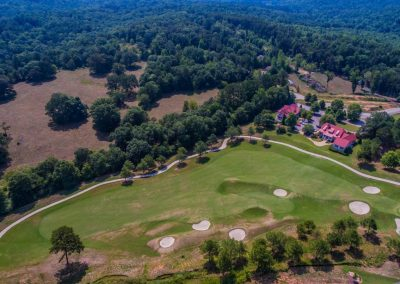 overhead shot of golf course 2