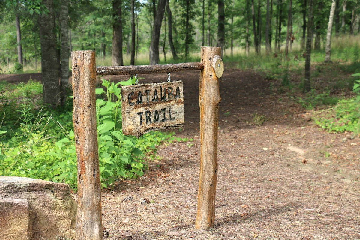 catawba trail sign