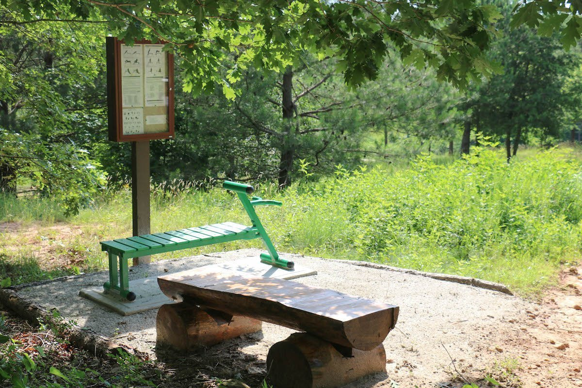 outdoor exercise station