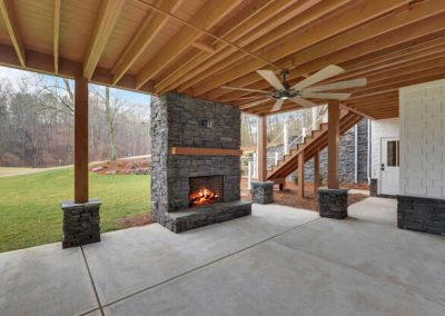 243 Edgewater Trail S Toccoa GA-Currahee Club Preferred Home Builders-Terrace Level PatioFireplace